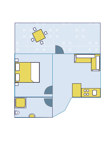 Ground-plan of the apartment - 4 - 2+1