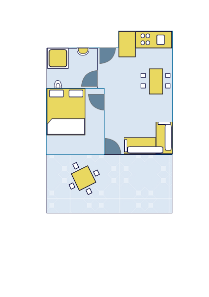 Ground-plan of the apartment - 6 - 2+1